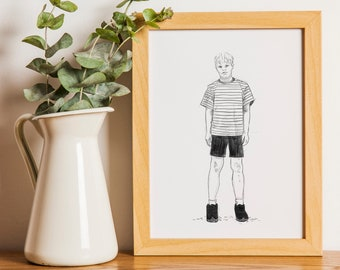 Pugsley from Addams Family Printable Art Digital Download
