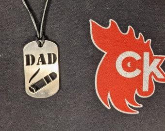 Dad (w/ Cigar) Dog Tag