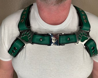 Bear Themed Bulldog Harness (Multiple Colors Available)