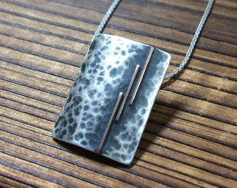 3 vertical strips pendant