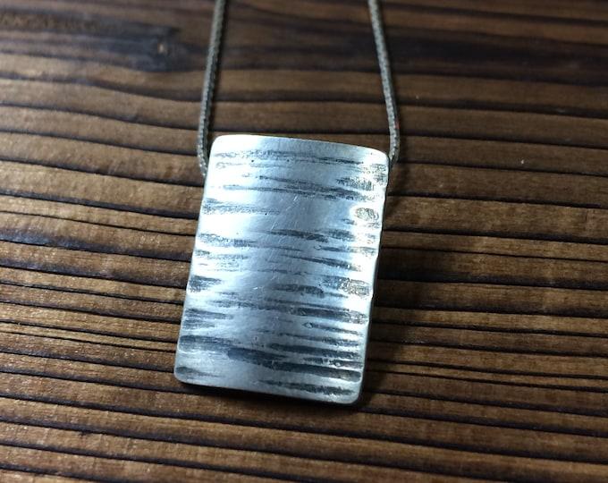 Featured listing image: Birch bark pendant