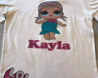 ea24dd0fc Girls LOL Dolls Custom Name LOL Suprise Infant/Toddler/Youth Short Sleeve  Onesie/T-Shirt