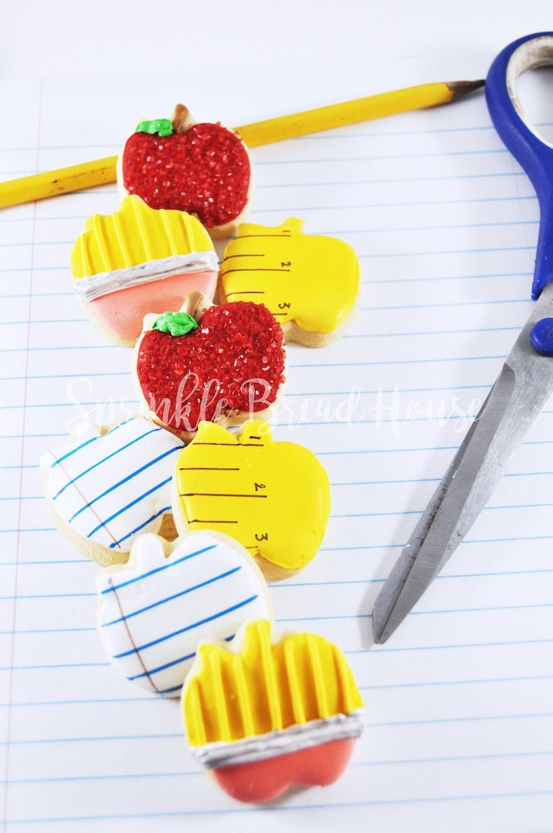 Mini Back to school cookies  sugar cookies  cute teacher image 2
