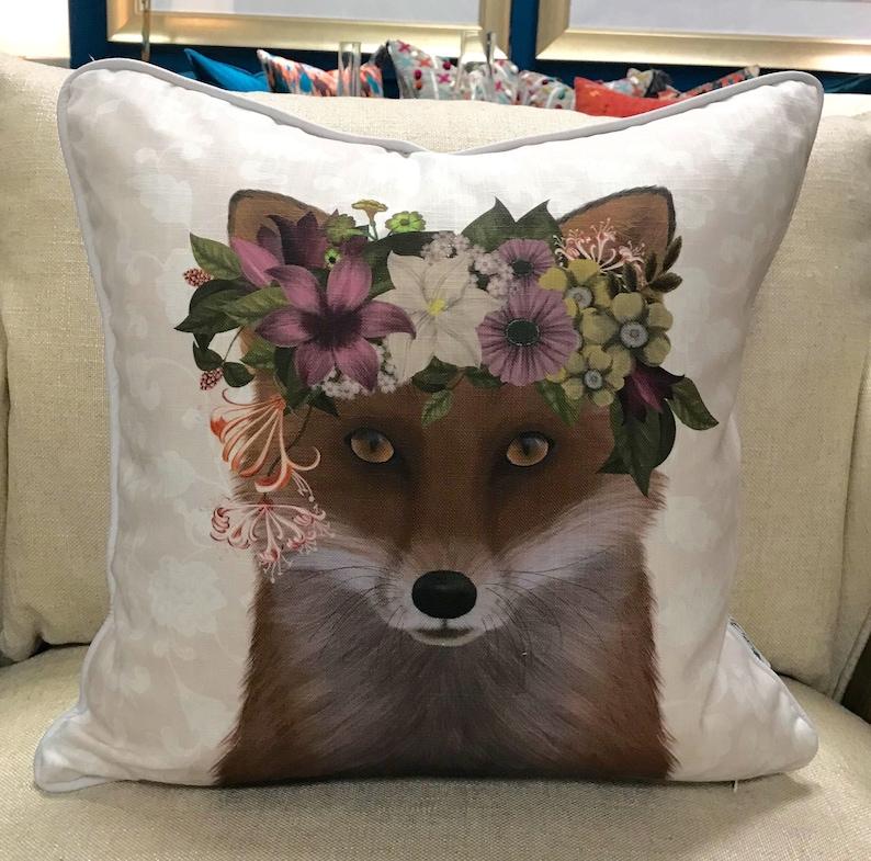 Bohemian Fox Accent Pillow