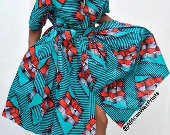 1da8f09706b8fb Chanda Dress: Ankara dress, Shirt dress, Summer dress, Robe Africaine,  African wax print, African dress, Kitenge Chitenge dress