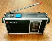 Vintage Sony ICF-5350 Time In Matic Transistor Radio
