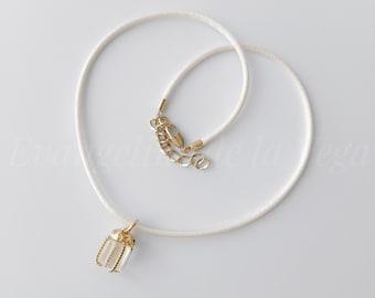 UNA • Satin Choker. Charm Choker Necklace. Gift Charm Necklace. Satin Necklace. Present Charm Necklace. Elegant Necklace.