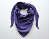 Merino crocheted purple triangle scarf