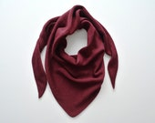 Merino crocheted maroon triangle scarf