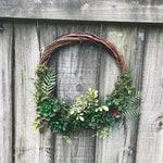 "Succulent Wreath- 12"", Moss covered grapevine wreath, Succulent indoor wreath home decor, Succulent Decor"