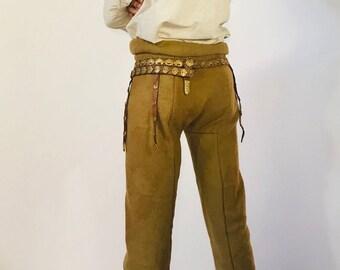 Thorsberg trousers(handwoven natural dyed  pants for historical viking costume, late roman, iron age, vendel reenactment, fantasy, larp, sca
