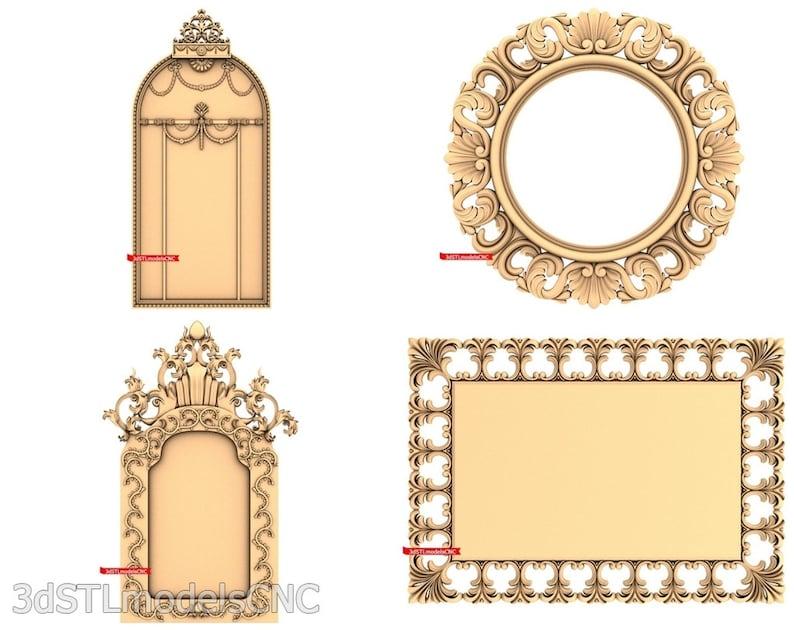 3D STL CNC Models 21pcs Frames collection for CNC Router Carving Machine Printer Relief Artcam Aspire Cut3d