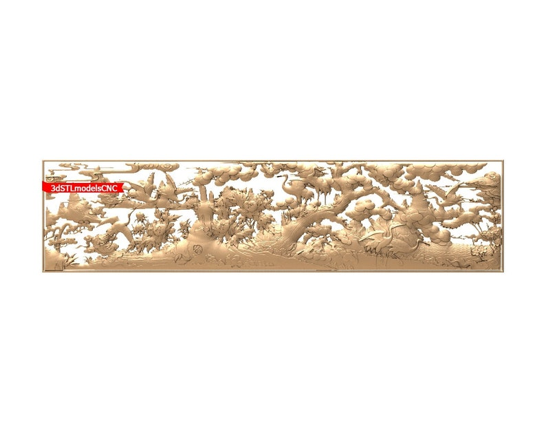 3D STL CNC Model Cranes file for CNC Router Carving Machine Printer Relief Artcam Aspire Cut3d