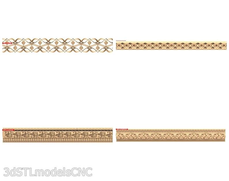 3D STL CNC Models 21pcs Baguettes collection for CNC Router Carving Machine Printer Relief Artcam Aspire Cut3d