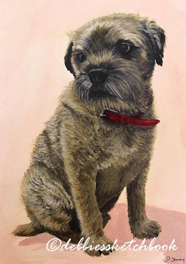 Border Terrier Dog Giclee Fine Art Print