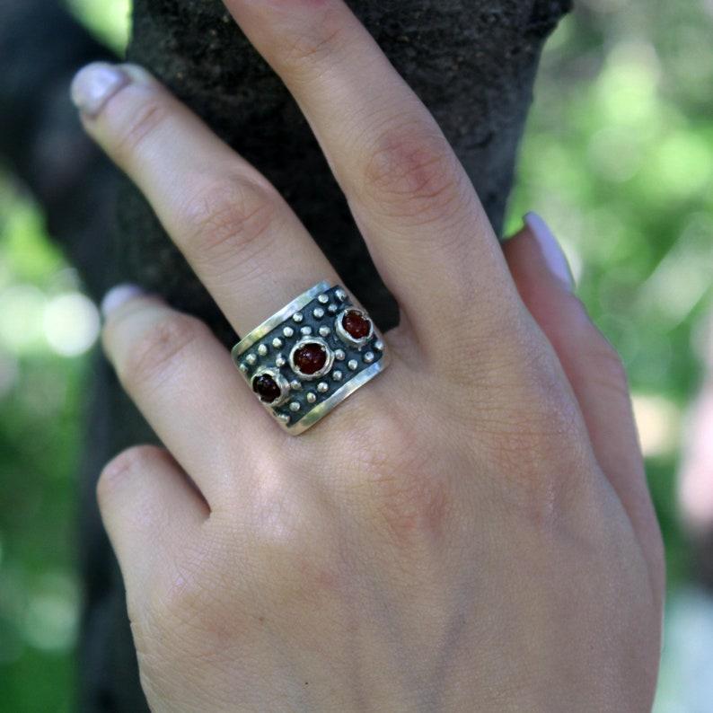 Gift for her Designer Rectangular Set Natural Carnelian Set Handmade Silver Ring Earrings 925 Sterling Silver Set Natural Stone
