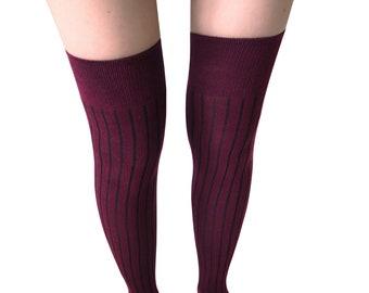 429c5039d Mysocks Over the Knee Socks Ribbed SIZE 5-9