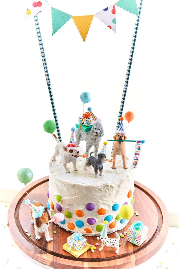 Outstanding Dog Birthday Party Dog Cake Toppers Dog Party Labrador Cake Etsy Funny Birthday Cards Online Fluifree Goldxyz