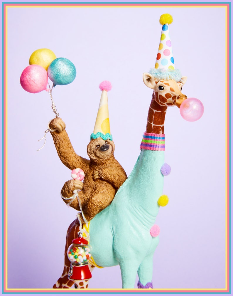 Birthday Sloth/ Sloth Cake Topper/ Giraffe Cake Topper ...