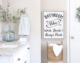 Canvas Bathroom Art Etsy