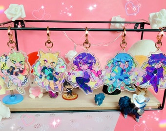 DMMD AOBA CAKE 3 Glitter Charms Double Sided