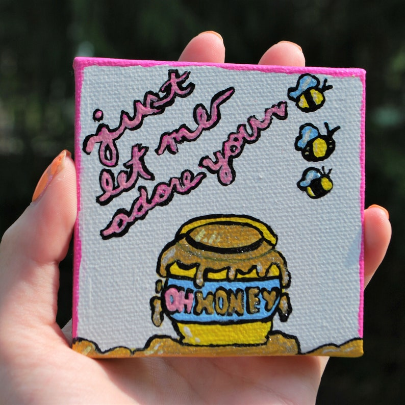 Handpainted Harry Styles Adore You Oh Honey Magnet