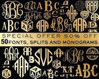 Svg monogram | Etsy
