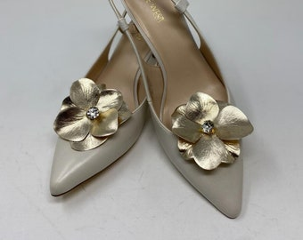 shoe clips genuine leather shoe clips clips for shoes shoe jewelry Leather flower Shoe Clips