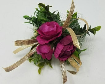 Blush Pink Corsage Sola Corsage Flower Girl Corsage Minnie Mouse Corsage Mickey Mouse Corsage Bridesmaid Corsage Sola Flower Corsage