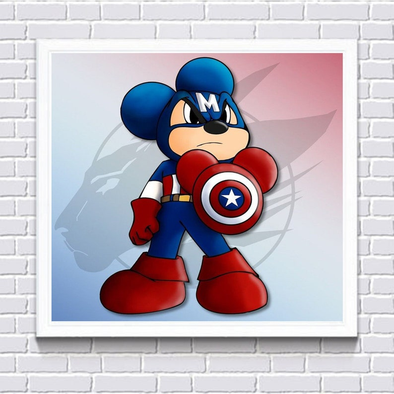 5D Diamond Painting Cartoon Mickey Mouse Embroidery Kit Cross Stitch Home Decor Wall Art Mural FREE Shipping