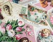 Vintage Victorian Tea Time Decoupage Paper by Plaid, 1990s Victoriana, for Spring, Tea Party Crafts, Junk Journals, Scrapbooking