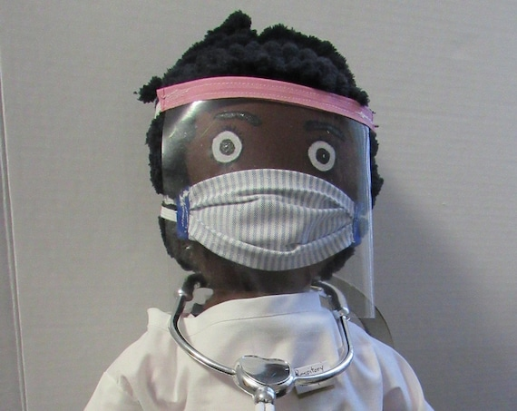 Essential Hero, Respiratory Therapist: Aria, 23 inch Handmade African American Doll