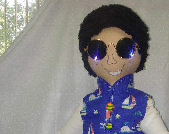 TJ, 18 inch African American Male Handmade Doll