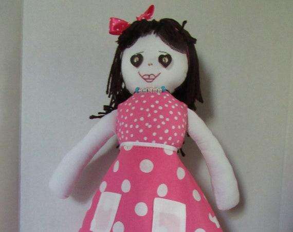 Chloe, 20 inch fabric doll