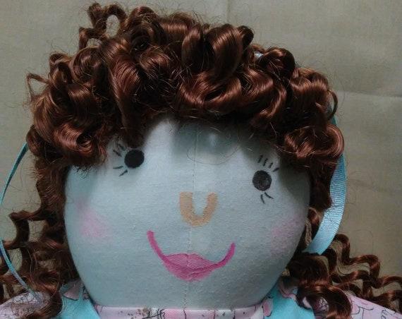 Sienna, 18 inch Handmade  Doll, Wardrobe & Slumber Bag