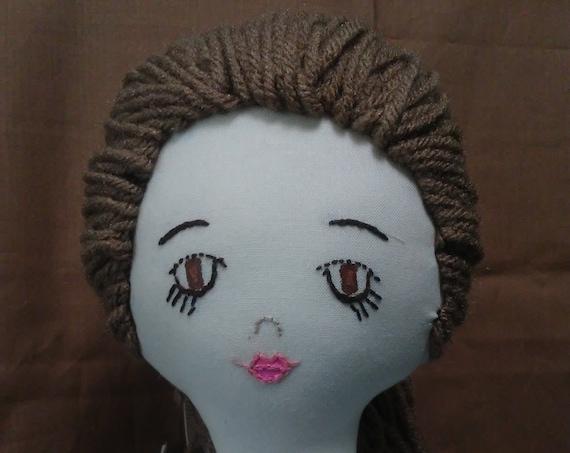 Miss Riley, 18 inch Handmade Fabric Doll