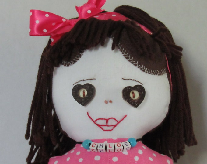 Featured listing image: Chloe, 20 inch fabric doll