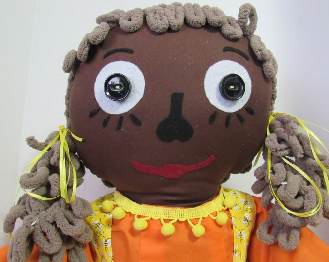 "Featured listing image: 36 inch ""Honey Bell"" Fabric Doll"