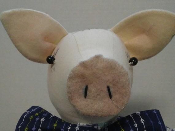 Hamton, 18 inch Boy Pig Handmade Doll