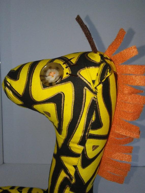 Kazi, 12 inch Handmade Giraffe Doll