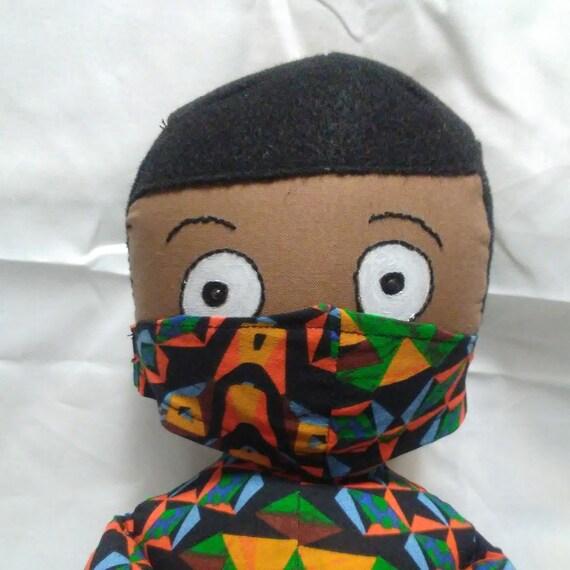 Jaxson, 25 inch African American Male Handmade Doll