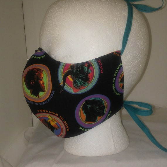 Face Mask, Double Layer, Filter Sleeve/Nose Wire, Washable/Reusable Child Size (Loops or Ties)