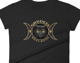 ac08da08 Goddess Wicca Kittie - Fashion Tee for Cat Lovers that like Funny Cat Shirts,  Gifts for Women, Love, Magical, Animal T-Shirts