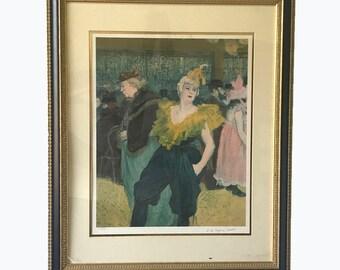 SALE Original Lautrec. Henri de Toulouse-Lautrec. Original Lithograph. Lautrec Lithograph. Lautrec Print. The Clowness.Moulin Rouge