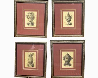 C H Kreutzberger. Set of Prints. French Etchings. Framed Prints Set. Antique Prints. Collage Prints. Classical Framed Prints. French Art