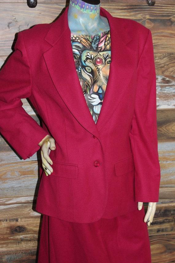 Pendleton Woolen Mills 100% Wool Blazer Skirt Suit