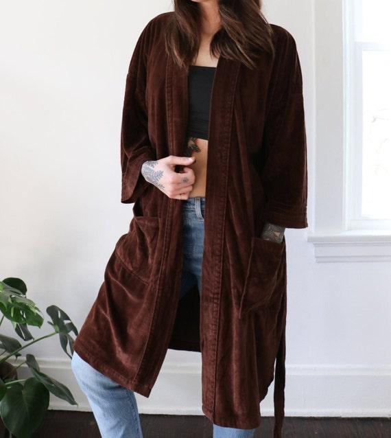 Vintage Brown Terry Robe