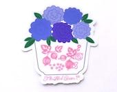 Pyrex Pink Gooseberry Floral Vinyl Sticker