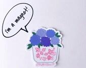 Pyrex Pink Gooseberry Floral Magnet