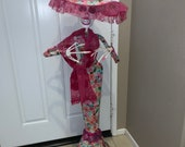 Dia de Los Muertos Doll sugar doll paper mache Sugar Skull statue 39 X10